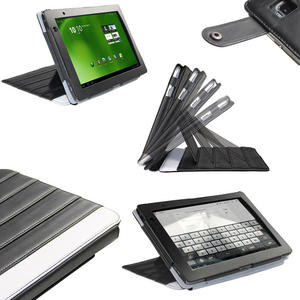 iGadgitz Black 'ArmourDillo' Genuine Leather Case Cover for Acer Iconia Tab A500 A501 10.1 Android Tablet 16gb 32gb Preview